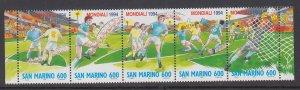 San Marino 1307 Soccer MNH VF