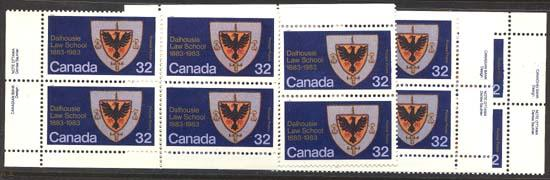 Canada - 1983 32c Dalhousie Law School Imprint Blocks mint