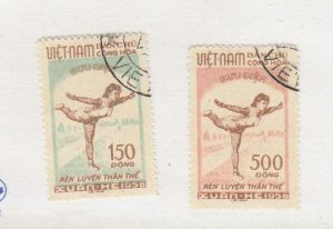 VIET NAM # 67-68 VF-LIGHTLY USED CAT VALUE $32.50