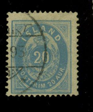 Iceland #17a Used F-VF CAt$375