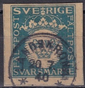 Sweden Military Reply Stamp F-VF Used   (Z6239)