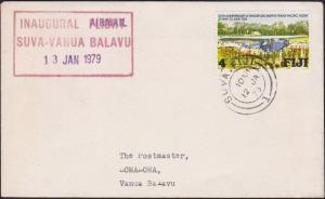 FIJI 1979 First flight cover Suva to Vanua Balavu...........................5061