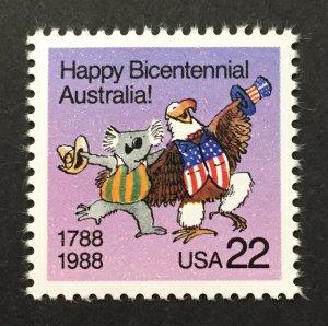 U.S. 1988 #2370, Australia Bicentenary, MNH.