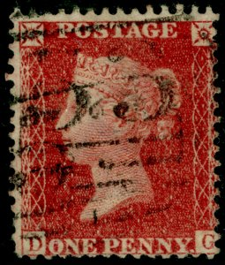 SG40, 1d rose-red PLATE 61, LC14, USED. Cat £30. DG