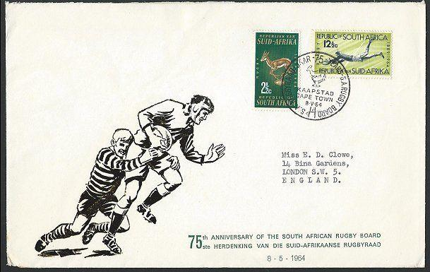 SOUTH AFRICA 1964 Rugby comem FDC..........................................47394