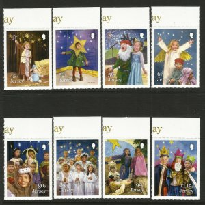 Jersey Christmas Stamps 2019 Childrens Nativity Play Angels 8v S/A Set MNH