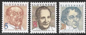 SLOVAKIA 1993 Famous Men Set Sc 163-165 MNH