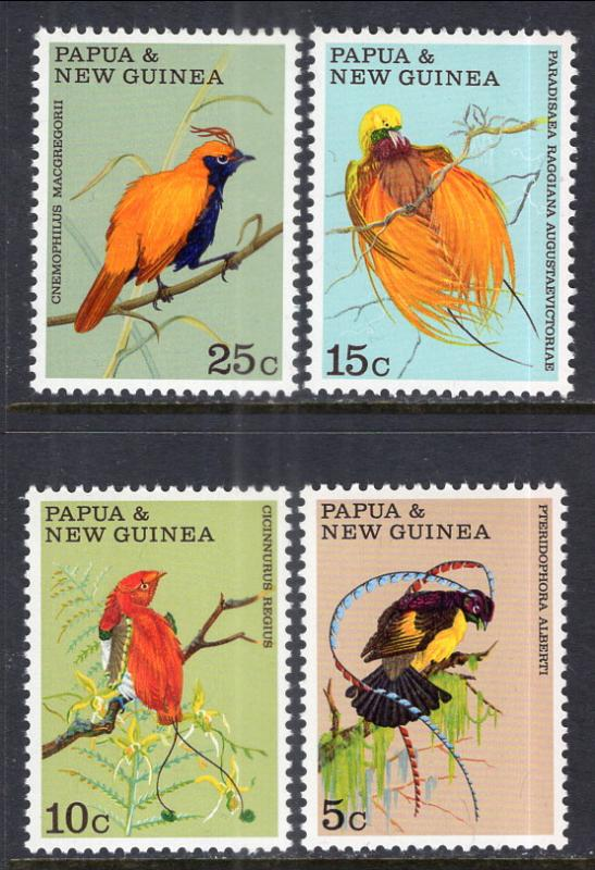 Papua New Guinea 301-304 Birds MNH VF