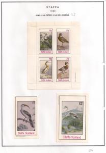 SCOTLAND - STAFFA - 1982 - Birds #56 - Perf 4v, Souvenir, De Luxe  Sheets - MLH