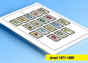 COLOR PRINTED ISRAEL 1971-1999 STAMP ALBUM PAGES (116 illustrated pages)