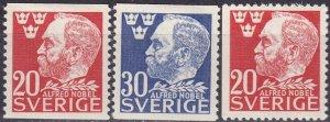 Sweden #380-82  F-VF Unused  CV $4.95 (Z5302)