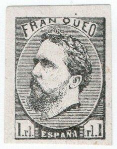 (I.B) Spain Postal : Don Carlos 1R (type II) black proof