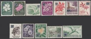 Norfolk Is. 71-82 MNH - Various Subjects