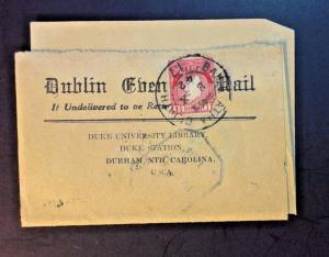 Ireland 1942 Censored Blank Letter to USA - Z782