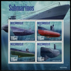 MOZAMBIQUE 2019  SUBMARINES SHEET MINT NEVER HINGED