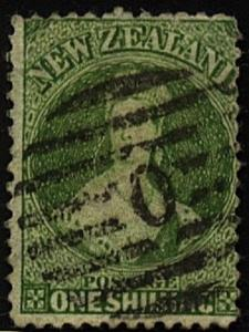 NEW ZEALAND 1864 Chalon 1/- perf 12½ used SG125............................71881
