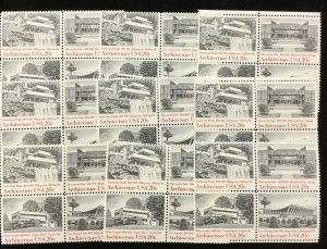 2019-2022      Architecture  MNH 20 c stamps 25 blocks of 4     Issued In 1982