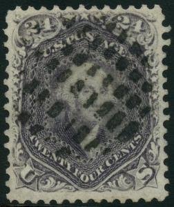 #70a (BROWN LILAC) VF USED WITH FANCY CANCEL CV $325 BT9407