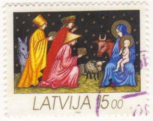 Latvia #339 used, Christmas