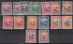 Sarawak KGVI 1947 Crown Colony Set to $1 SG150/163 MH/MNH J5683