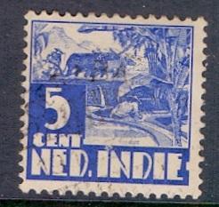 Netherlands Indies 1934  used 170  rice field  no watermark  5ct    #