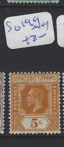 MALAYA STRAITS SETTLEMENTS   (P0807BB)  KGV  5C   SG 199    MOG