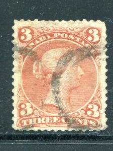 Canada #25   Used  F-VF   - Lakeshore Philatelics