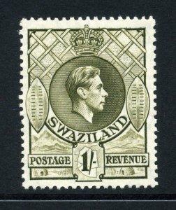Swaziland 1938 KGVI 1/- perf 13½x13 SG 35 mint