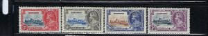 BARBADOS SCOTT #186-189 1935 GEORGE V SILVER JUBILEE- MINT HINGED/LIGHT HINGED