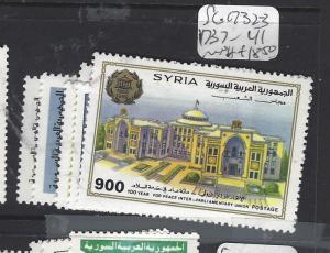 SYRIA  (P2609B)       SG 1732-3, 1737-41         MNH