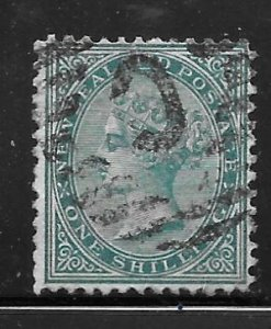 New Zealand 56: 1/- Queen Victoria, used, F