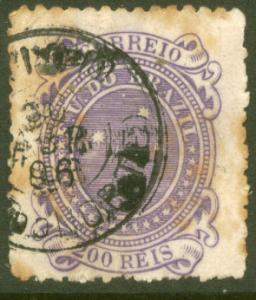 Brazil 103, 200r Southern Cross. Used. (373)