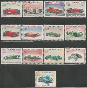 MONACO 648-661 MNH, 25TH GRAND PRIX OF MONACO, MAY 7