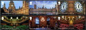 HERRICKSTAMP NEW ISSUES GREAT BRITAIN Westminster Palace Strips of 3