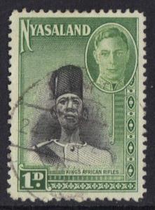 Nyasaland 1945  used  George  VI   1 d     #