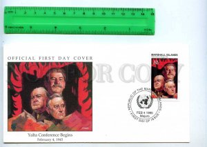 242058 MARSHALL ISLANDS WWII Yalta Conference Begins 1995 FDC