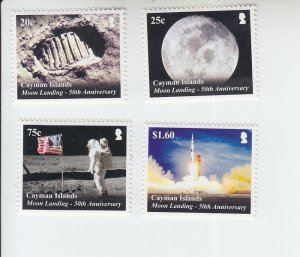 2019 Cayman Is Apollo 11 (4) (Scott NA) MNH
