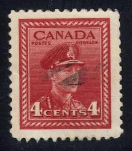 Canada #254 King George VI, used (0.25)