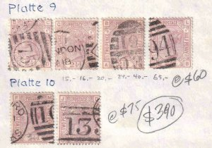 GREAT BRITAIN SC 67 PLATES 9, 10 CANCELS SOUND x6 $390 SCV MOUNTED