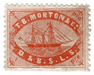(I.B) Turkey Local Post : TB Morton & Co Journal Stamp 1pi