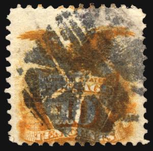 U.S. #116 10c 1869 yellow Used  CV $150