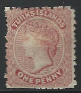 Turks  Islands Mint no gum S.C. 1