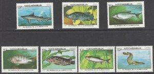 Nicaragua 1661-7  MNH  World Food Day  Fish 1987