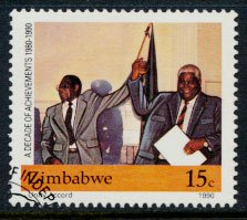 Zimbabwe SG 786  SC# 600  Used Independence Anniversary  see detail and scan