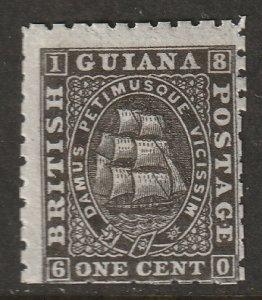 British Guiana 1866 Sc 50 MH*