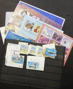 EDW1949SELL : BARBADOS Collection of VF MNH mostly 1990's-2000's. Scott Cat $136