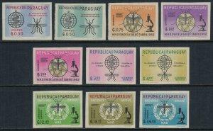 Paraguay #674-83*  Imperforate  CV $10.00  Malaria control