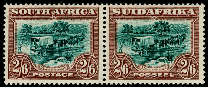 SOUTH AFRICA SG37, 1927-30 2s 6d Green & Brown, LH MINT. Cat £150.
