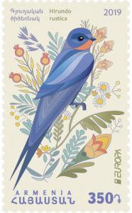 Armenia 2019 europa cept birds 1v MNH