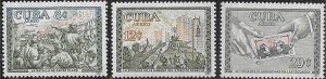 Cuba 1960 !st Anniversary of the Revolution  SC# C200-C202 Mint